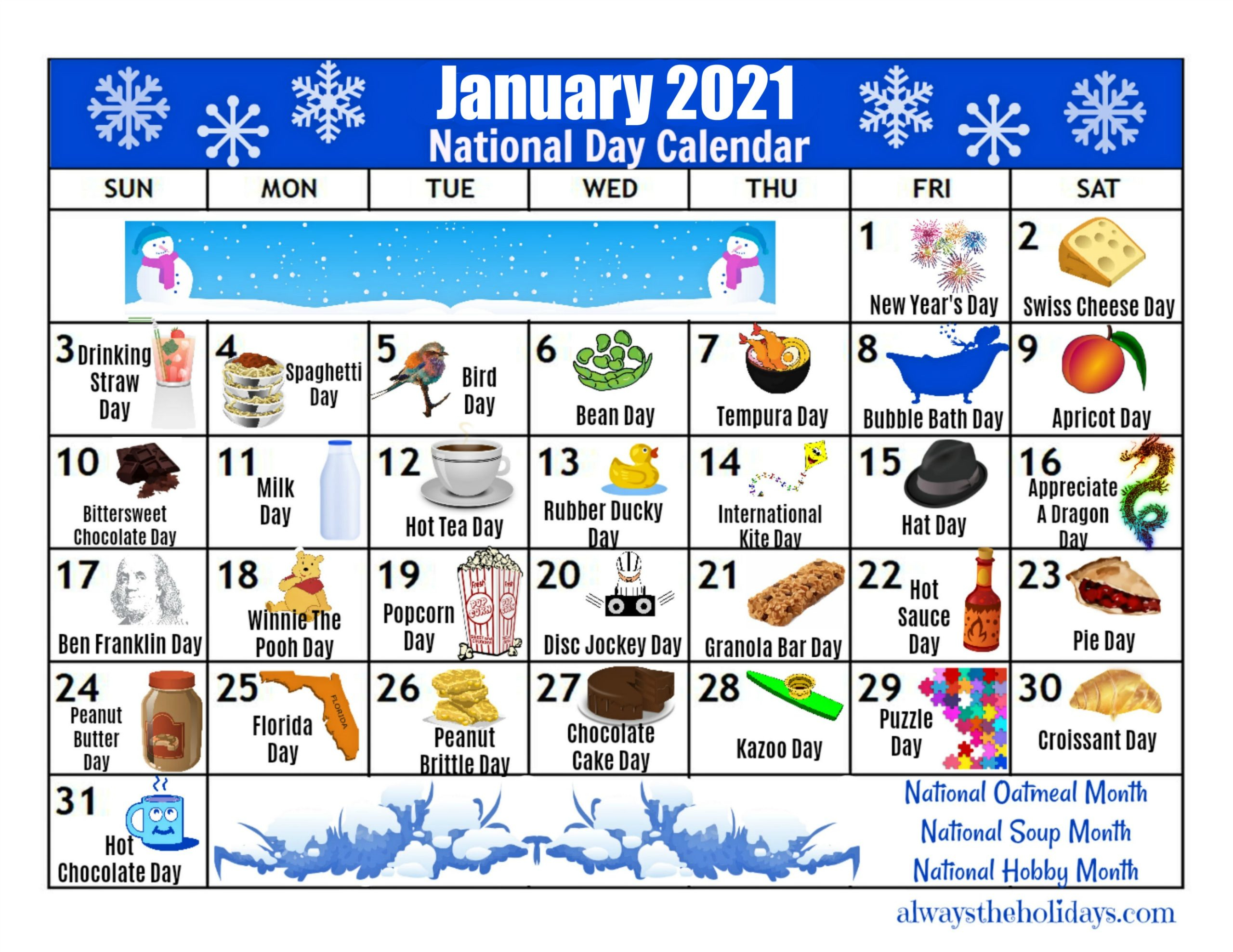 December 2020 And January 2021 Calendar With Holidays