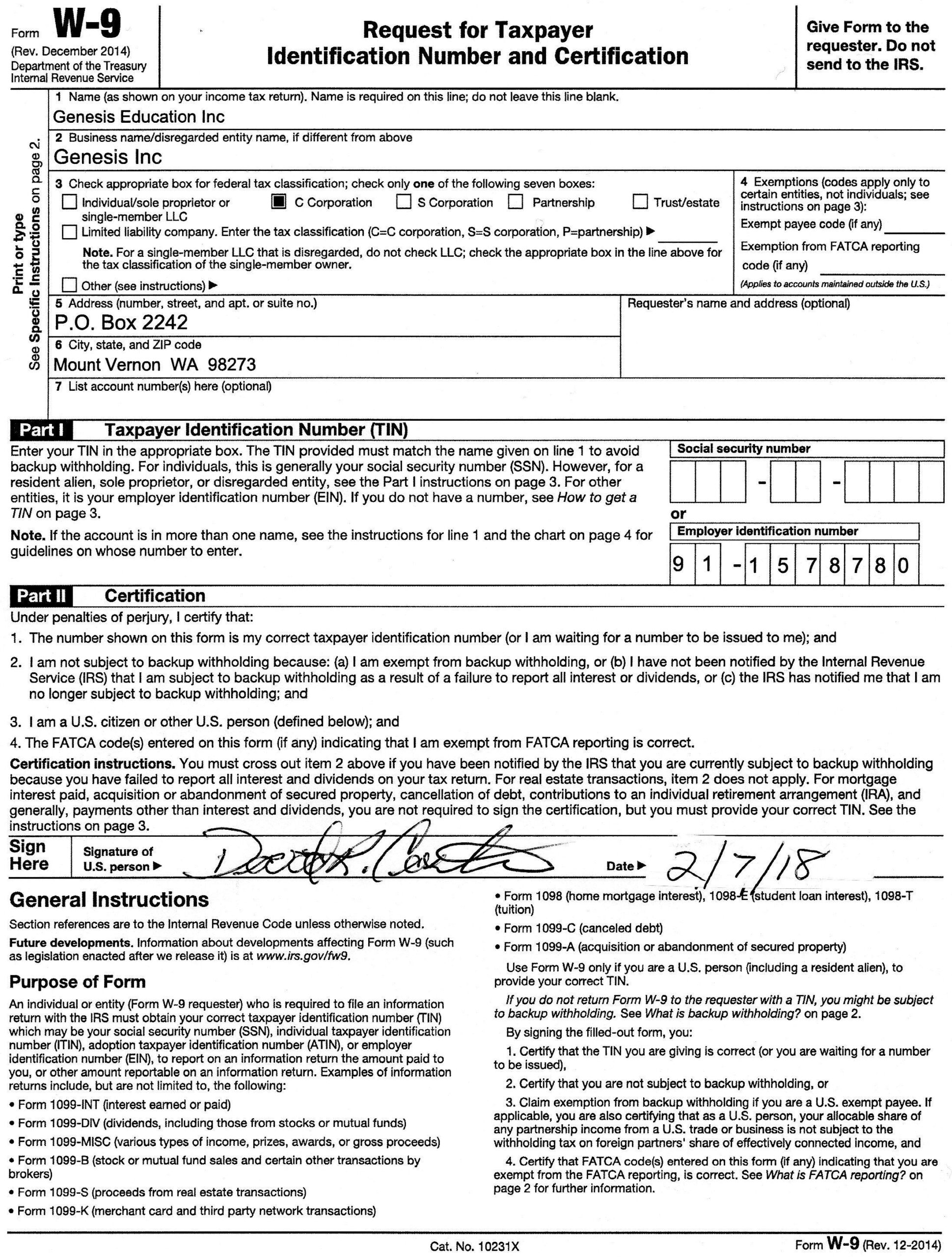 Downloadable W9 Tax Form How To Fill Out A W9 Form Line – W