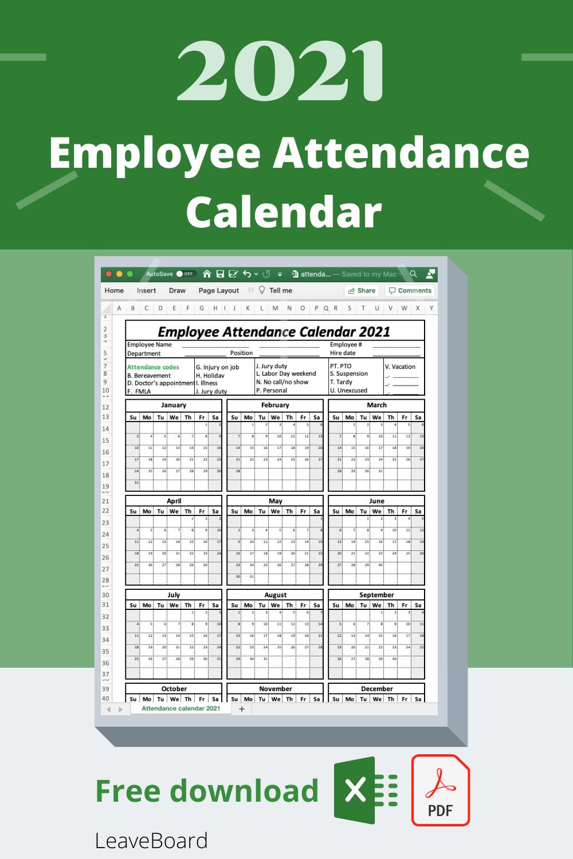 Employee Attendance Calendar   Leave Board
