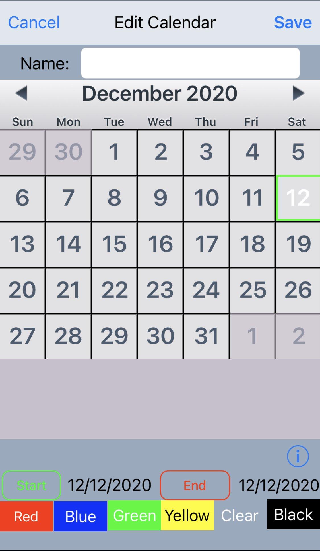 Ems/Fire Department Shift Calendar App - Custom Kelly