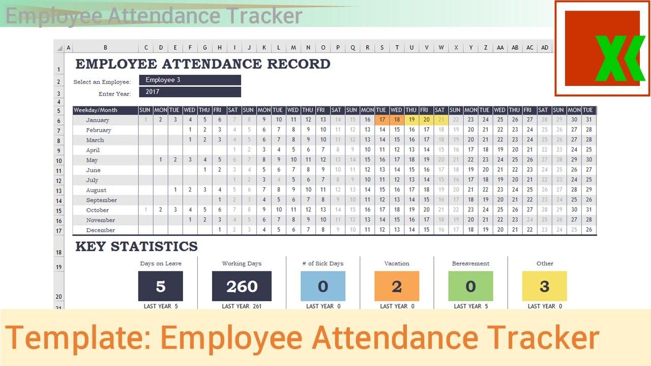 Excel Template - Employee Attendance Tracker