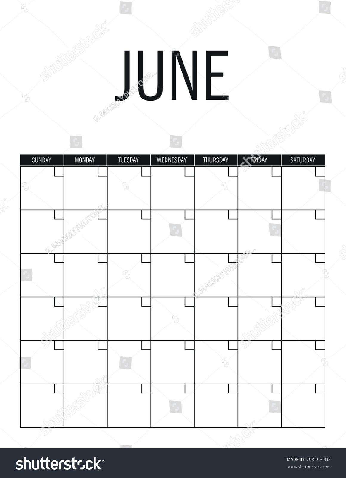 Exceptional Blank Calendar With No Dates | Printable