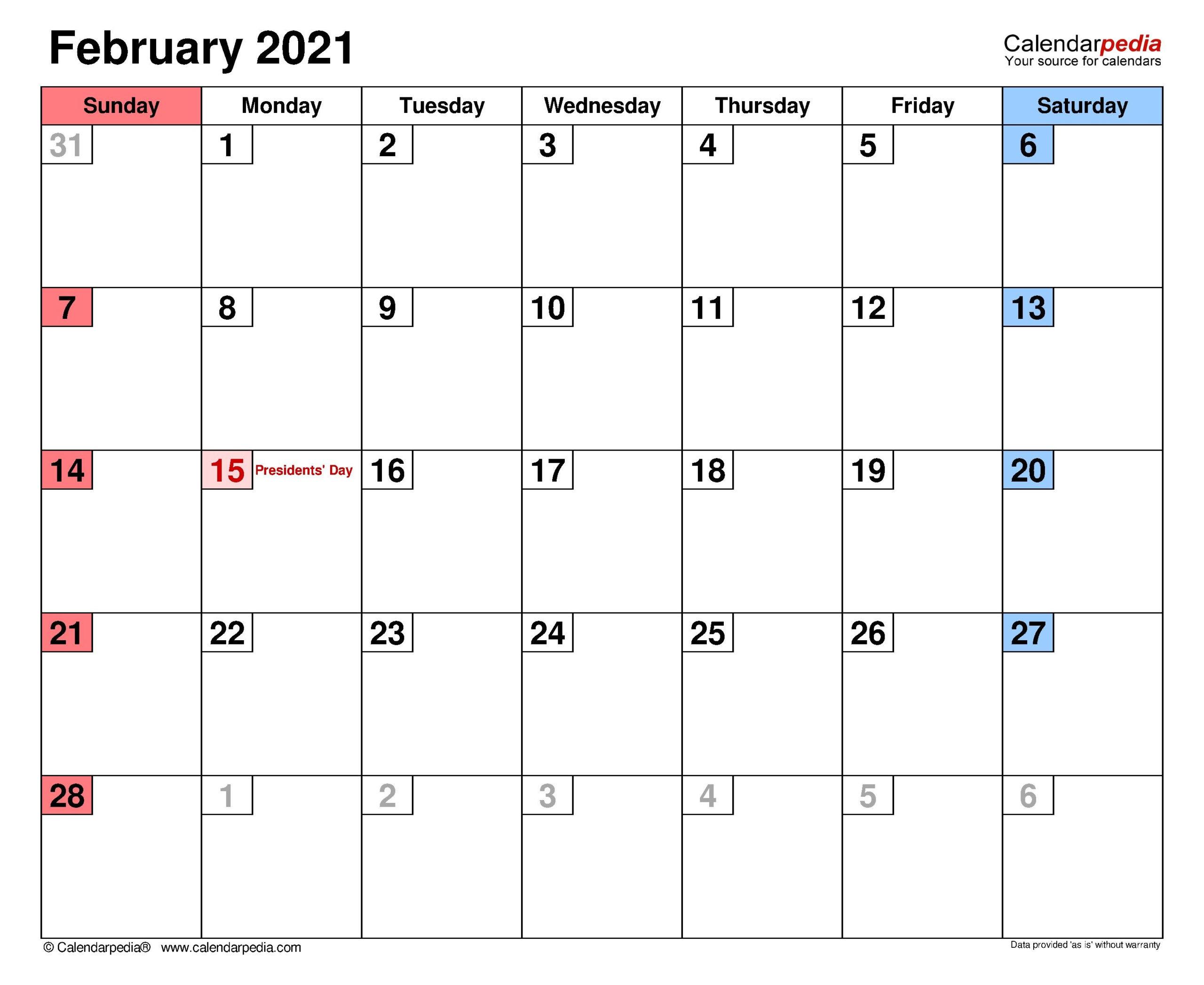 February 2021 Calendar With Canada Flag | Calendar Template