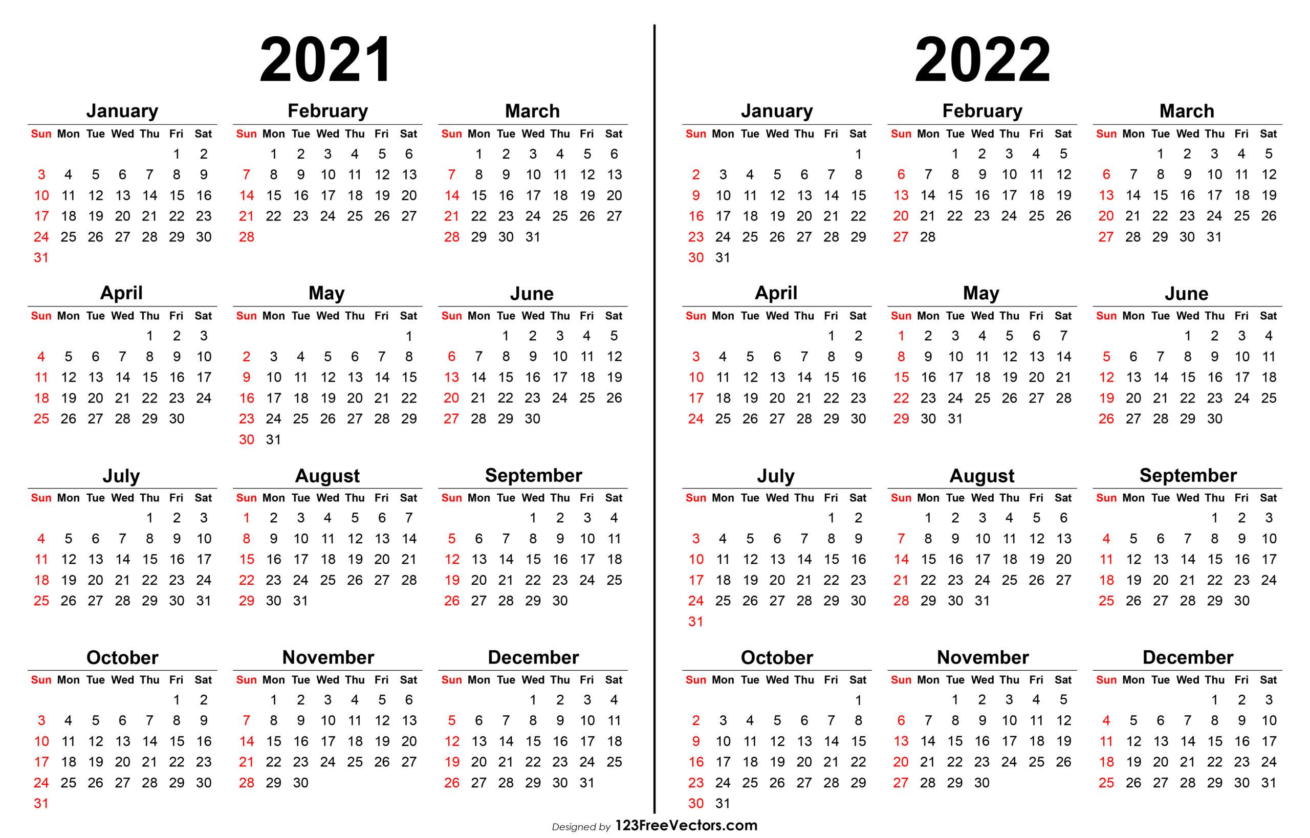 Free 2021 2022 Calendar