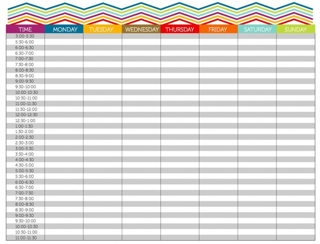 Free Printable 10 Minute Calendar (Page 1) - Line.17Qq