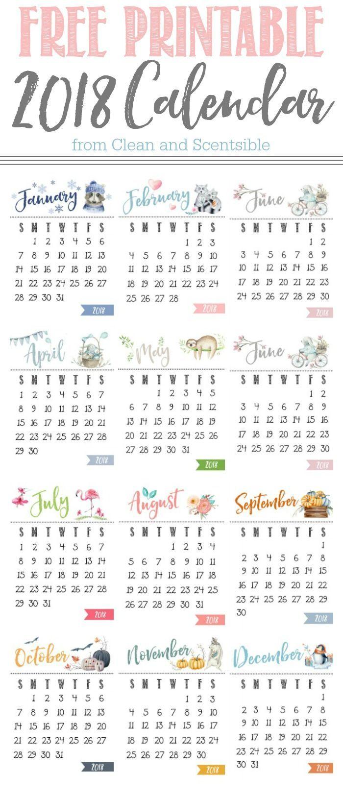 Free Printable Calendar - Clean And Scentsible | Calendar