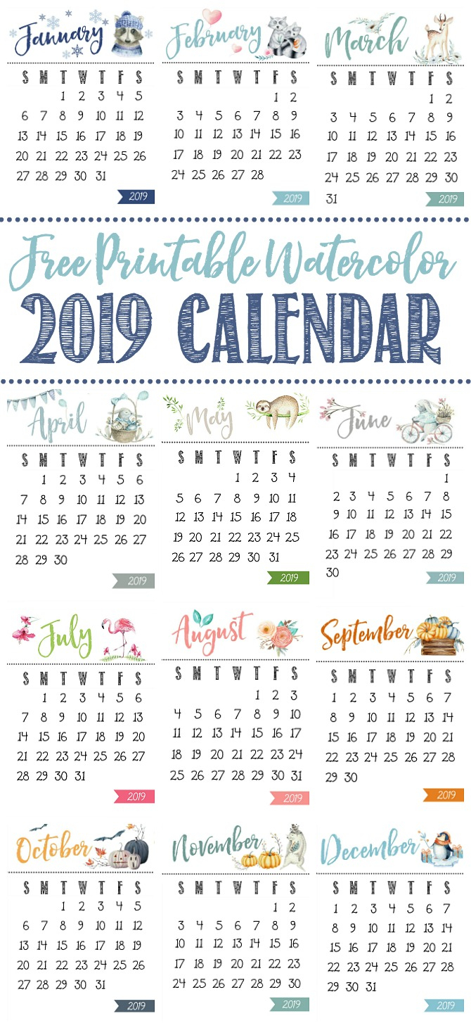 Free Printable Calendar - Clean And Scentsible