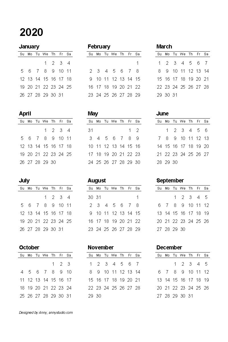 Free Printable Calendars And Planners 2019, 2020, 2021 Get