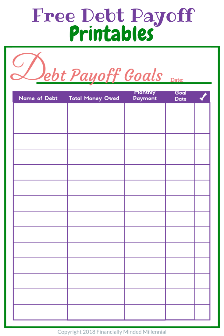 Free Printable Debt Payment Tracker To Help Get Out Of Debt