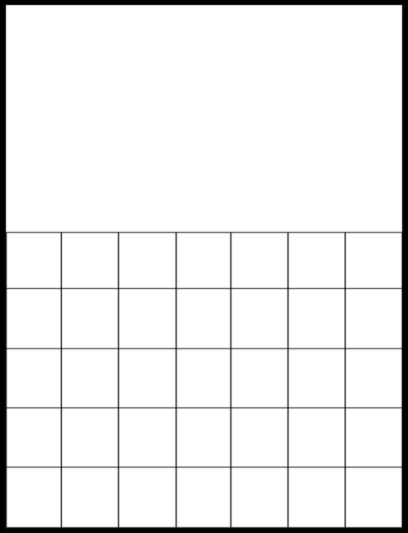 Free Printable Large Grid Calendar | Printable Blank