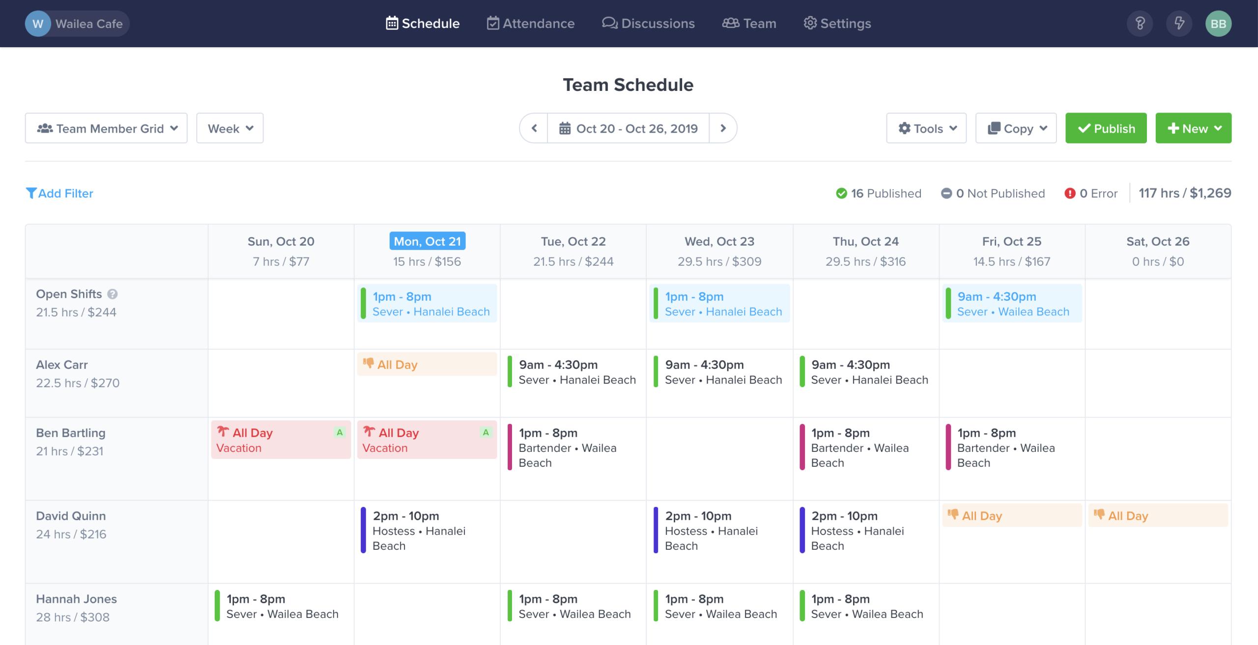 Free Work Schedule Maker & Time Clock App - Zoomshift