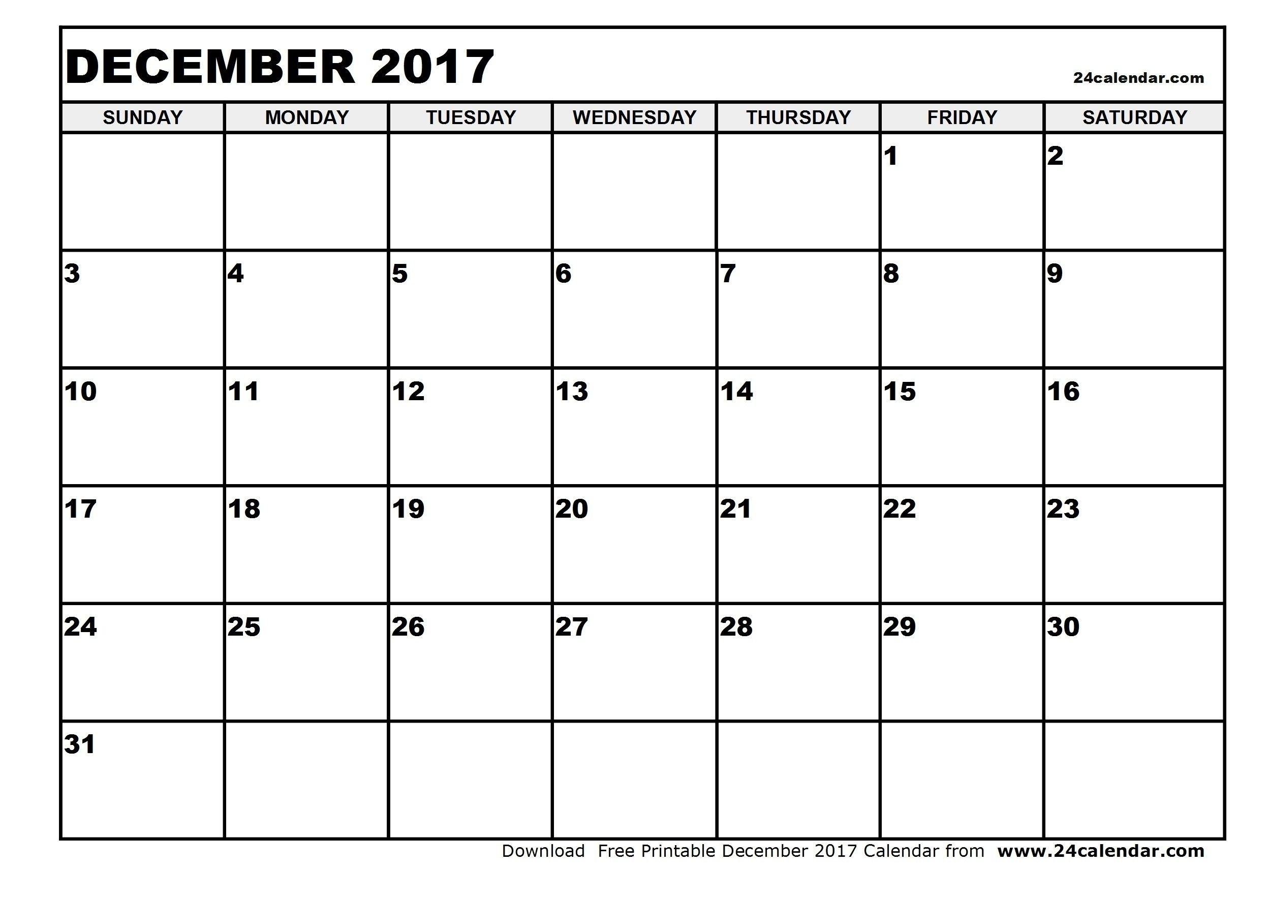 Full Size Blank Printable Calendar | Holidays Calendar