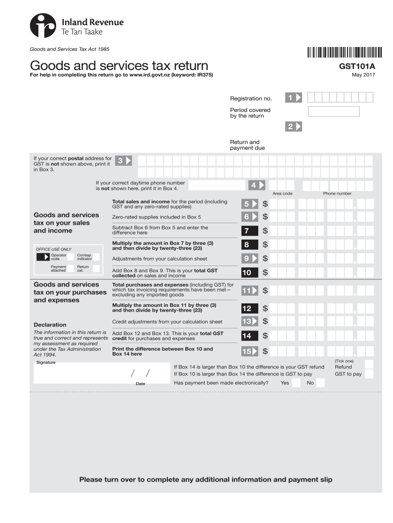 Gst101A - Fill Out And Sign Printable Pdf Template | Signnow