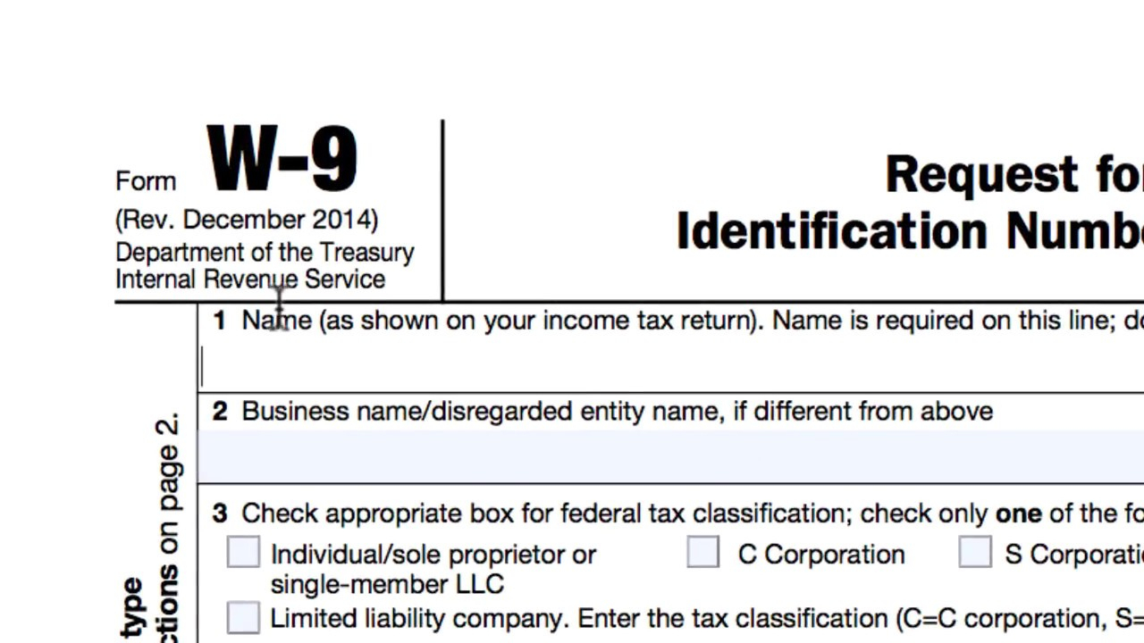 How To Complete An Irs W-9 Form
