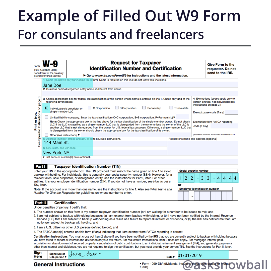 How To Fill Out A W-9 2019