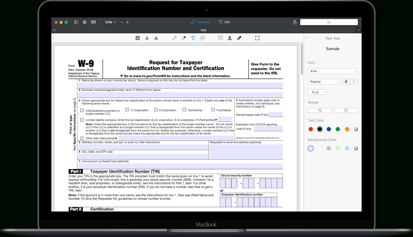 How To Fill Out Irs Form W-9 2019-2020 | Pdf Expert