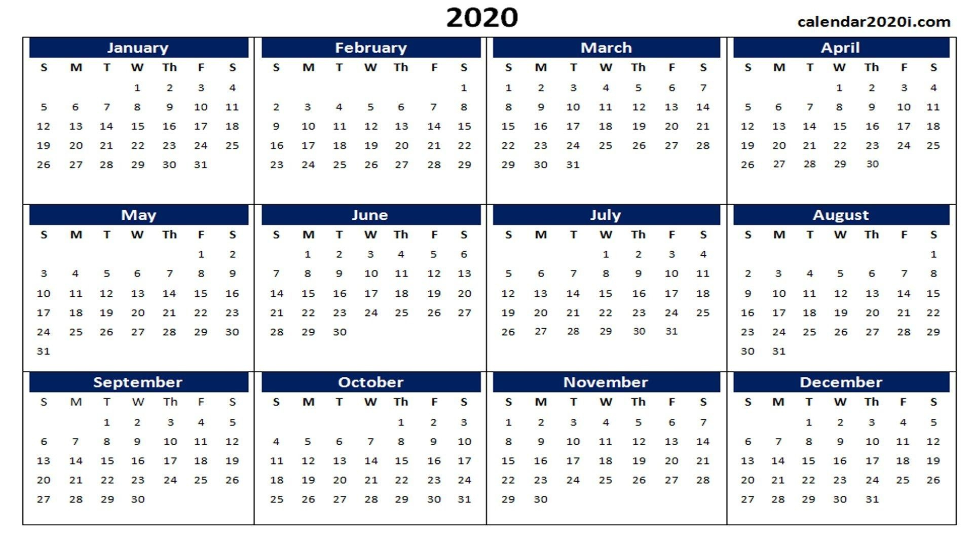 Incredible Microsoft Word Calendar 2020 Template | Printable