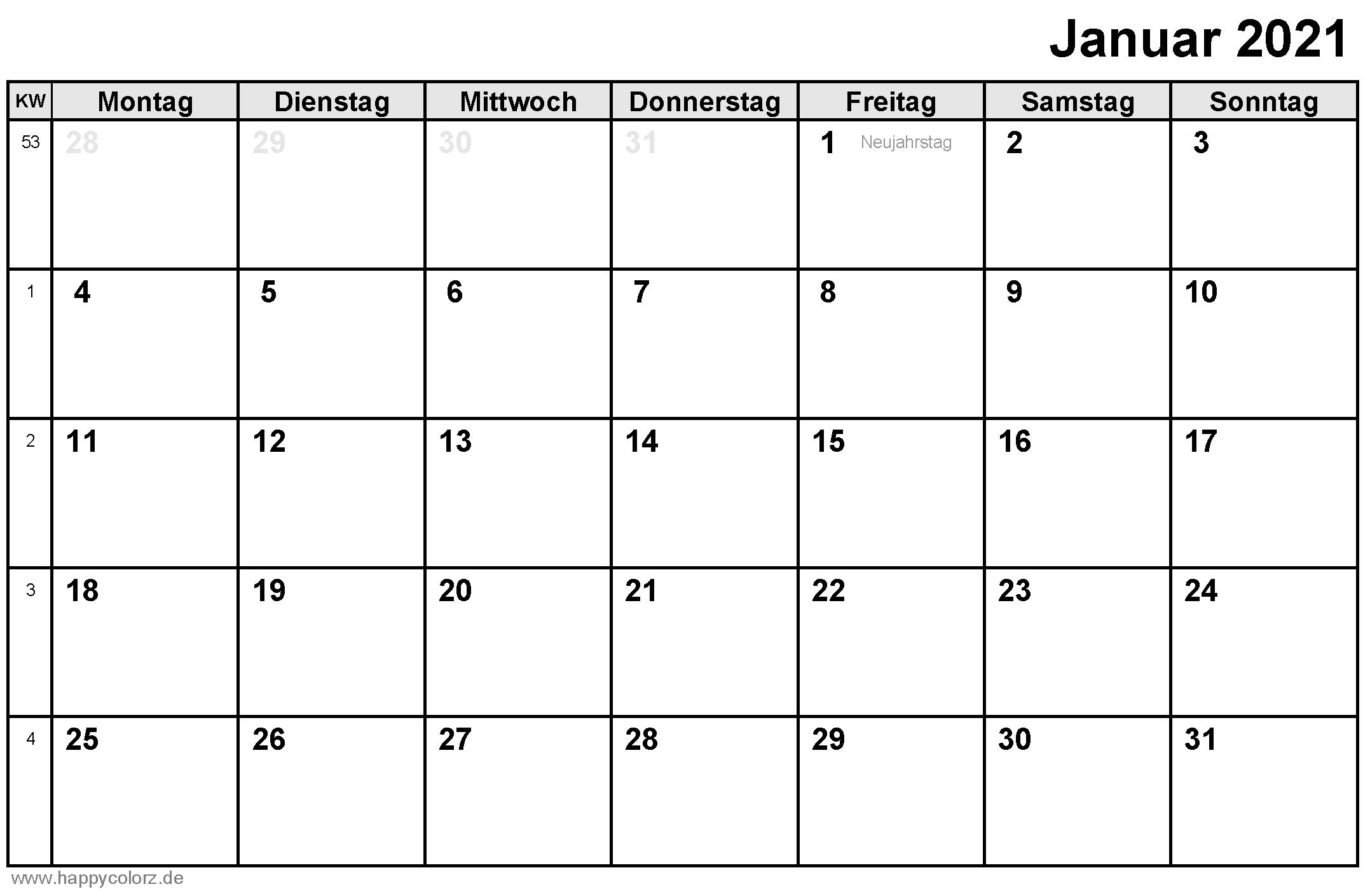 Kalender Monate 2021 Als Pdf, Excel Und Bild Datei Kostenlos