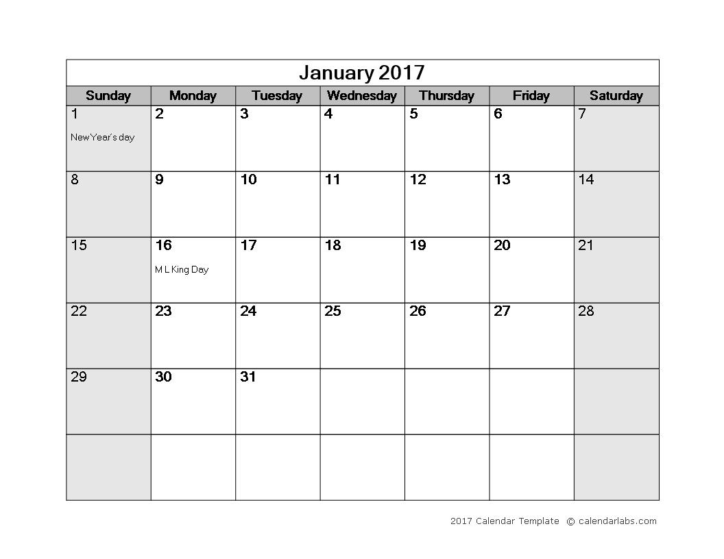 Kostenloses Monthly Calendar Word Template