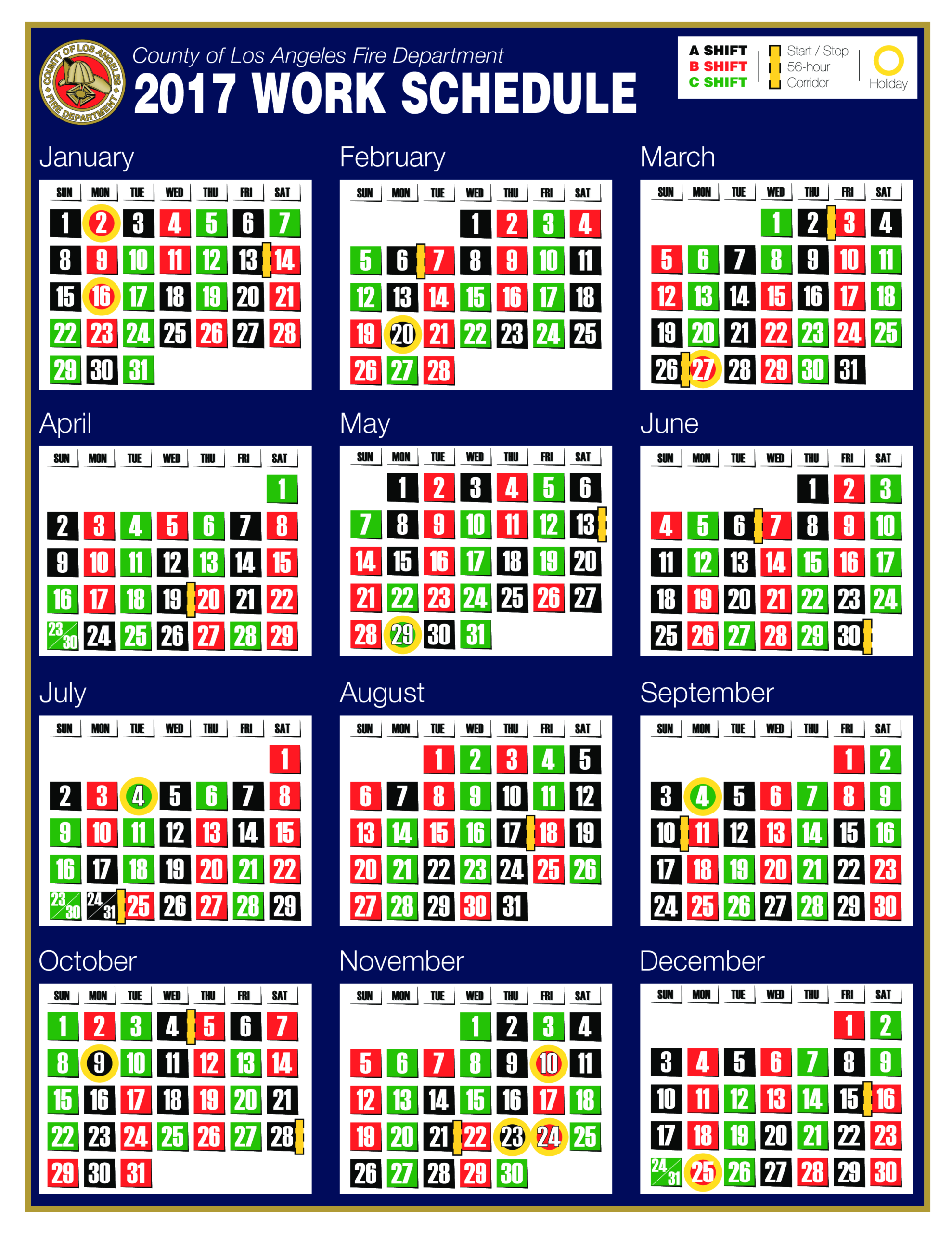 Lacofd Shift Calendar | Templates At Allbusinesstemplates