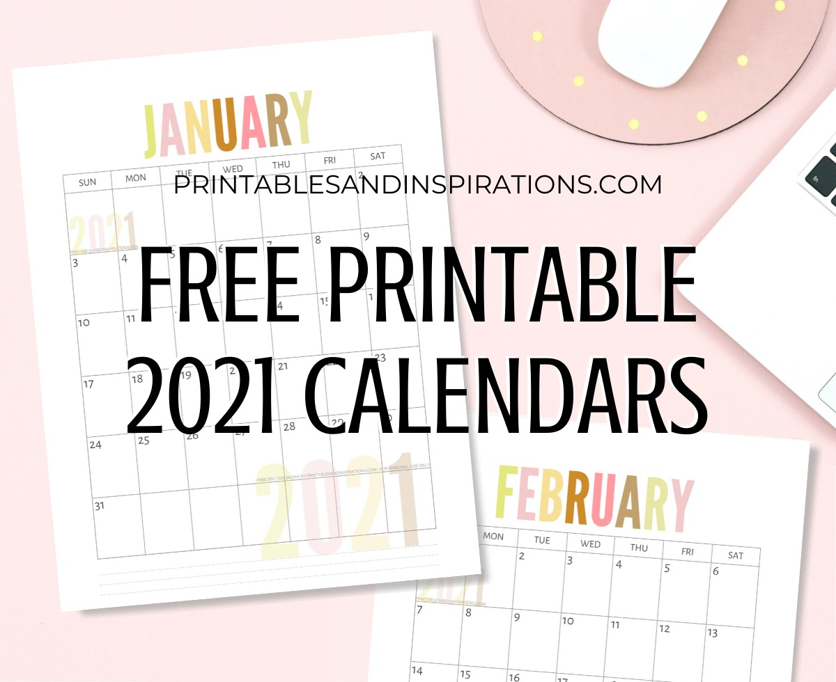 List Of Free Printable 2021 Calendar Pdf - Printables And