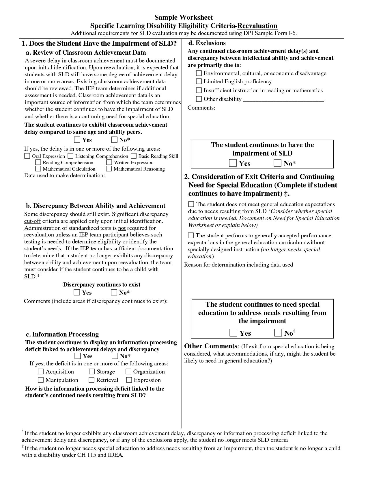 Mcgeer Criteria Worksheet   Printable Worksheets And