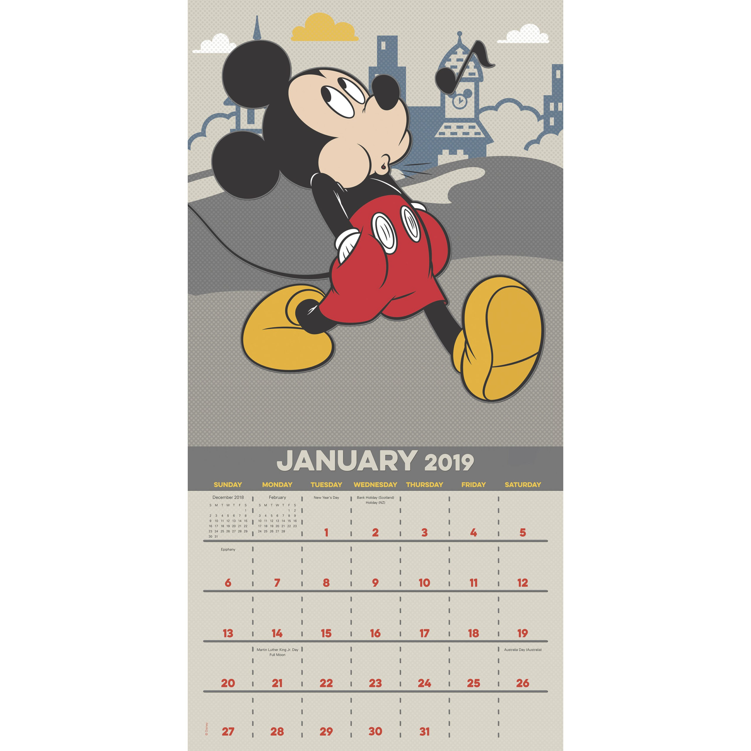 """Mead® Disney Mickey Mouse 2019 Monthly Wall Calendar, 12"""" X 12"""""""