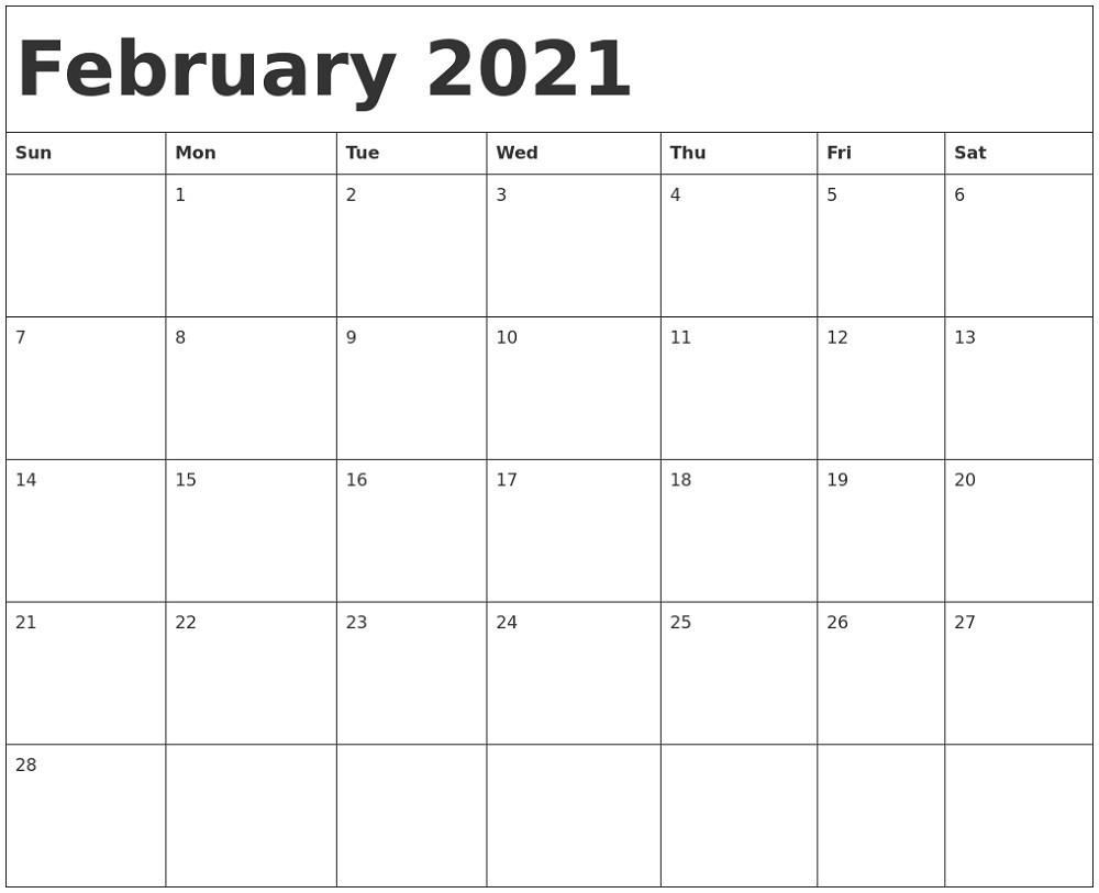 Microsoft Word Calendar Template 2021 Monthly Microsoft Word