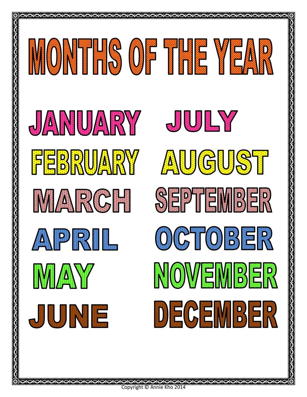 Month Of The Year – Unterrichtsmaterial Im Fach Englisch