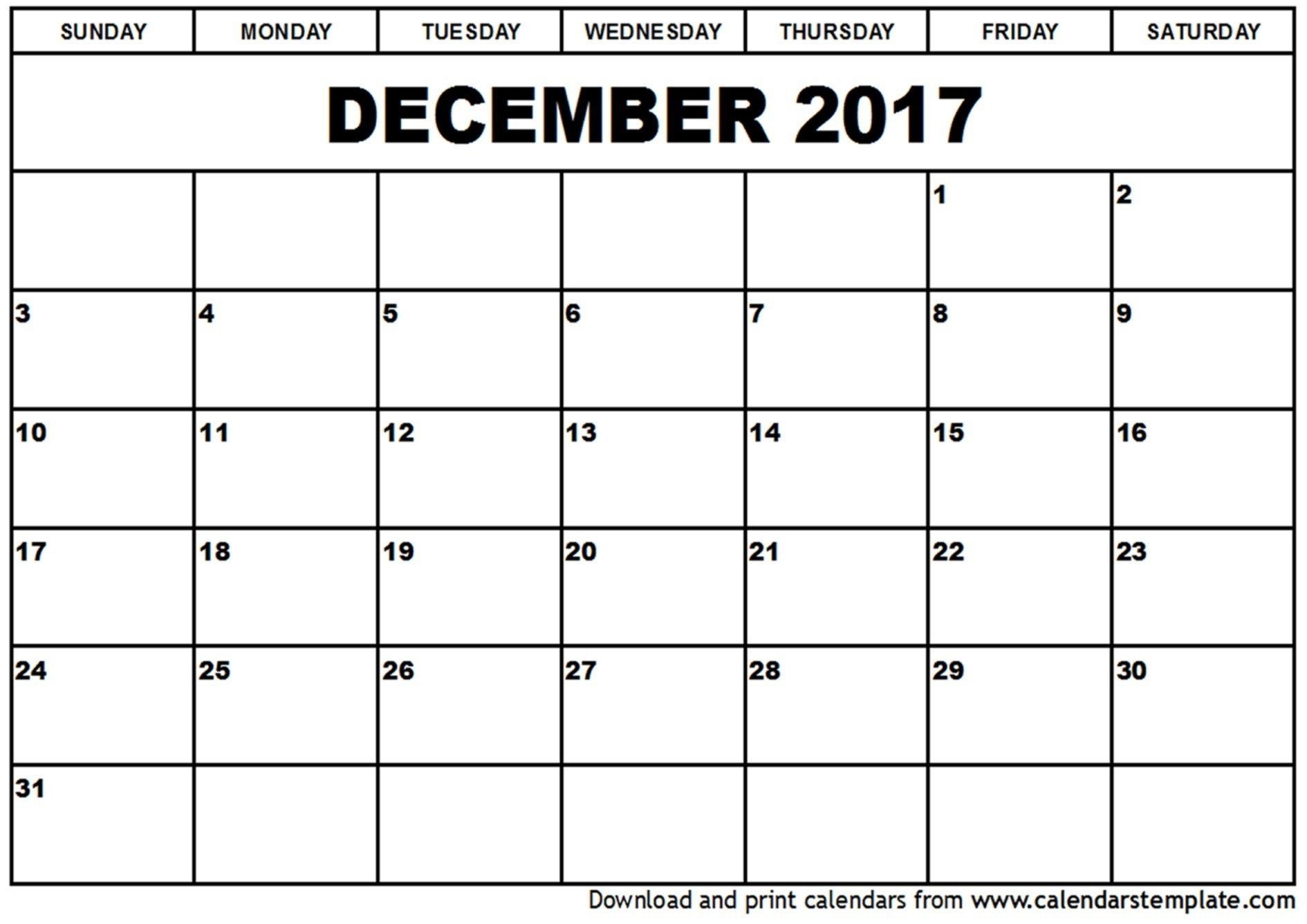 Monthly Calendar You Can Type In | Free Calendar Template