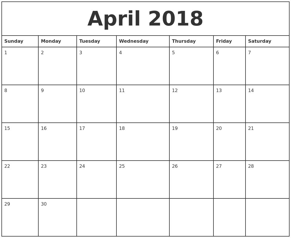 Monthly Calendar You Can Type In | Monthly Calendar