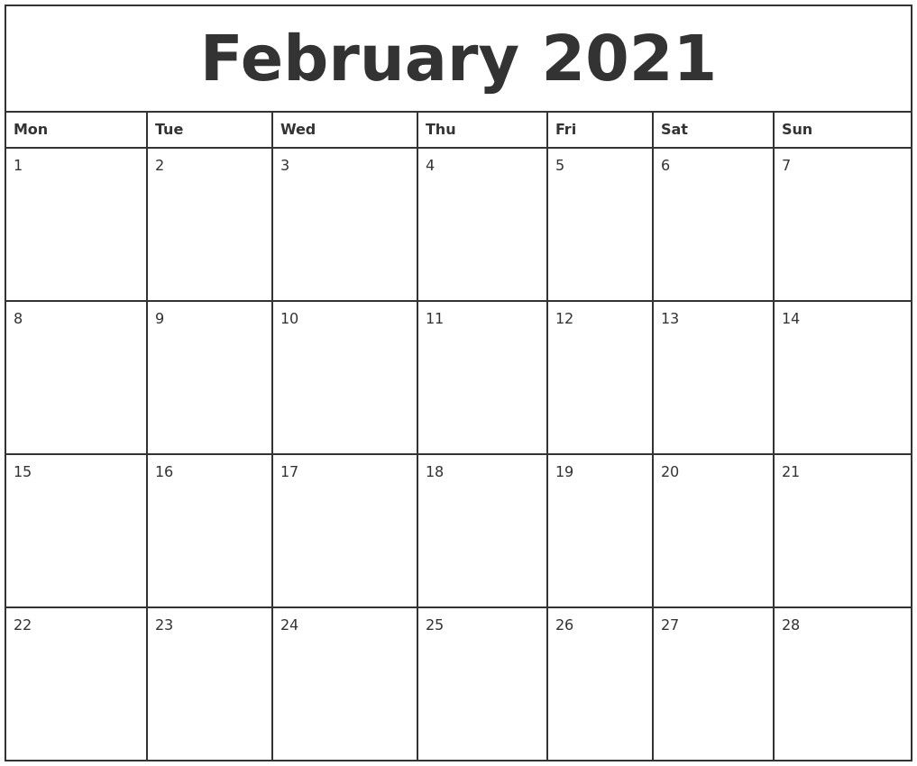 Monthly Planner 2021 Printable Full – Welcome To Our Website