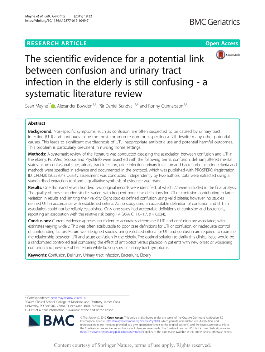 (Pdf) The Scientific Evidence For A Potential Link Between