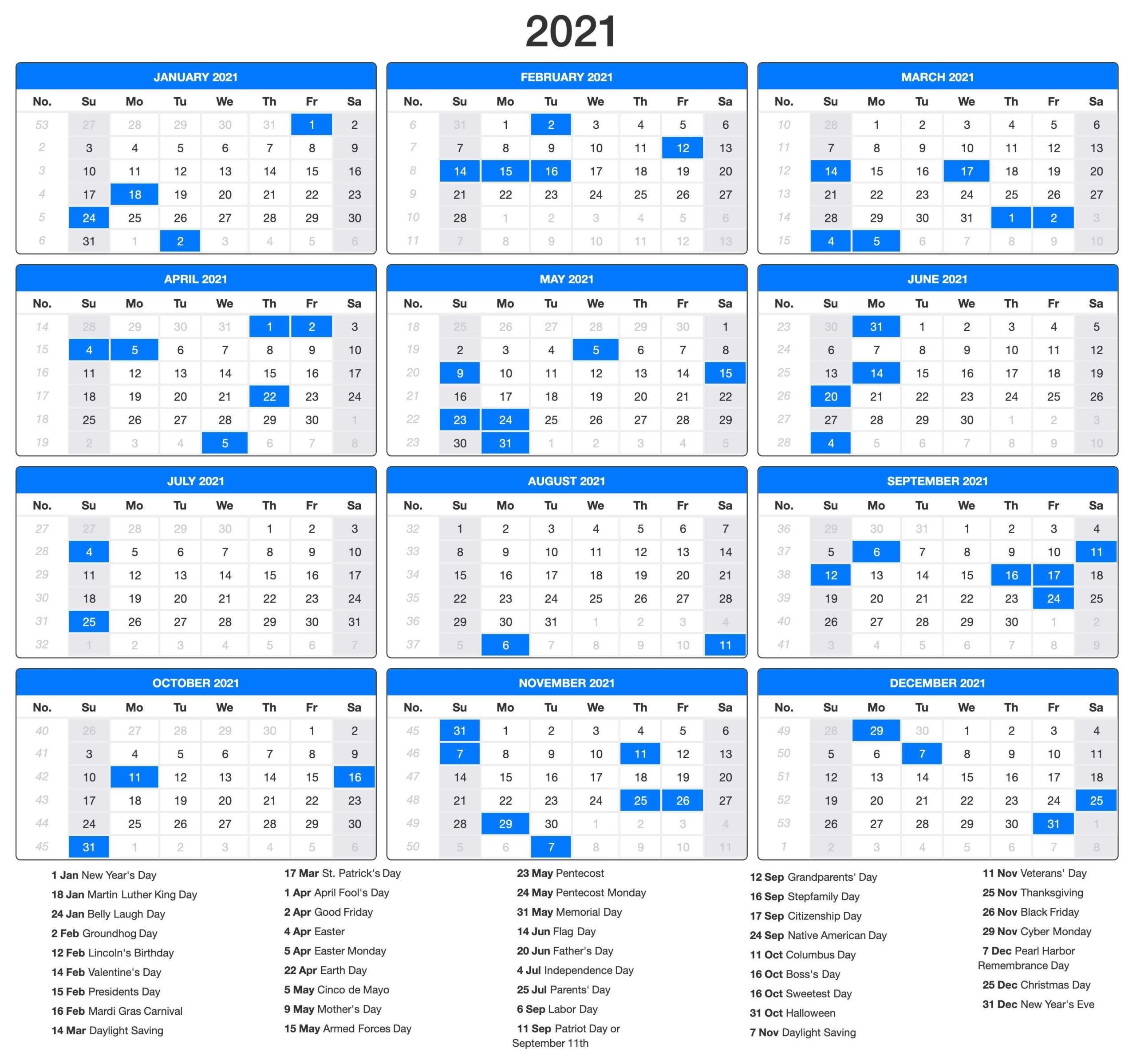 Printable 2021 Calendar Pdf | Calendar Printables, Us