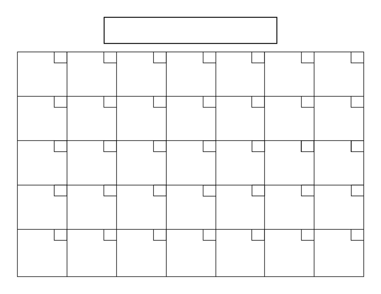 Printable 5 Day Calendar | Blank Monthly Calendar, Calendar