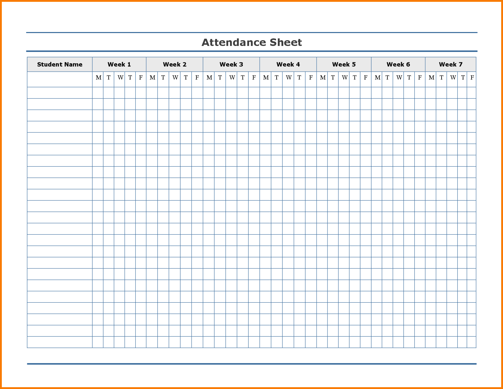 Printable Attendance Tracker | Attendance Chart, Attendance