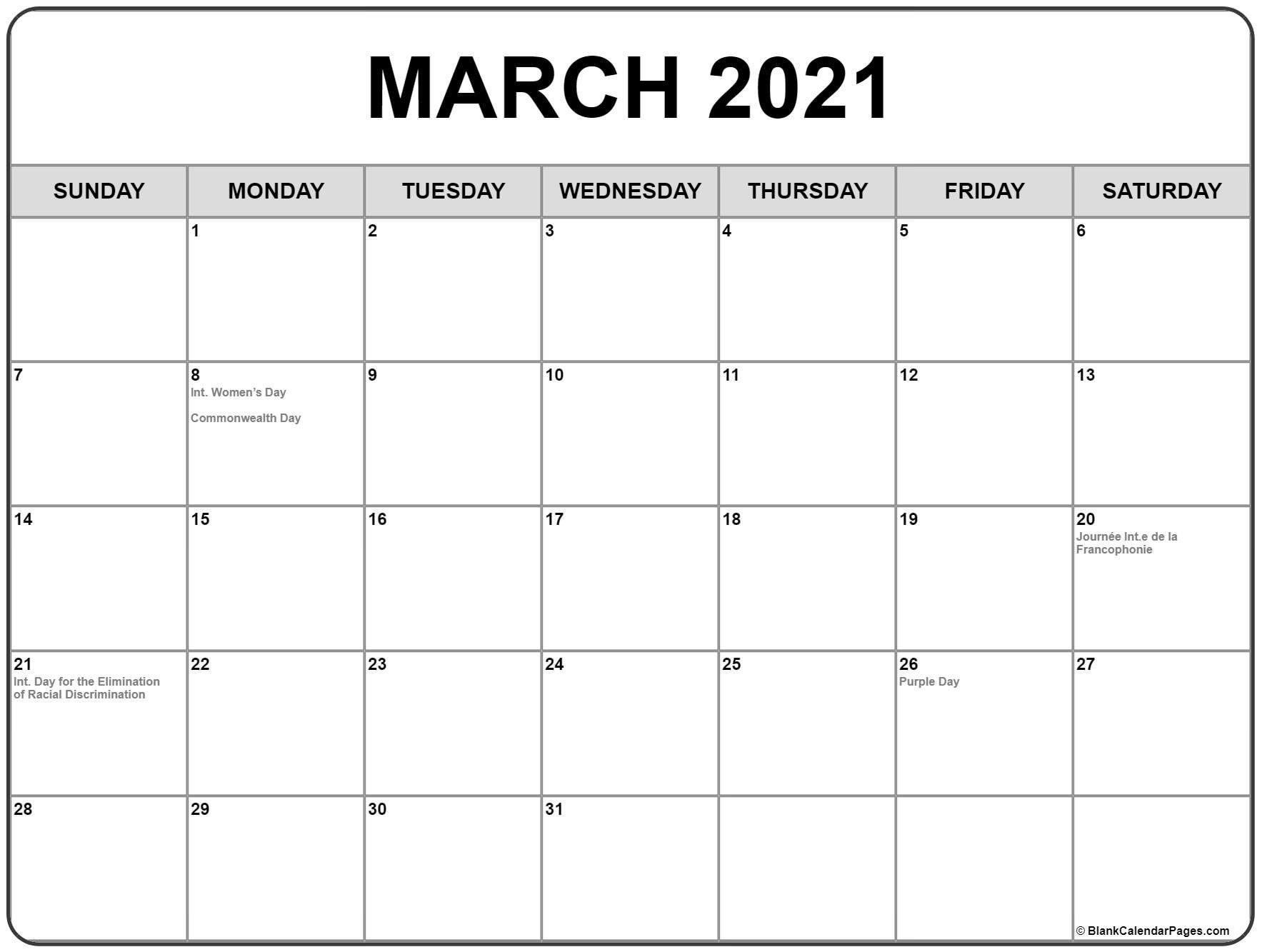 Printable Calendar 2021 Canada Full – Allowed In Order To