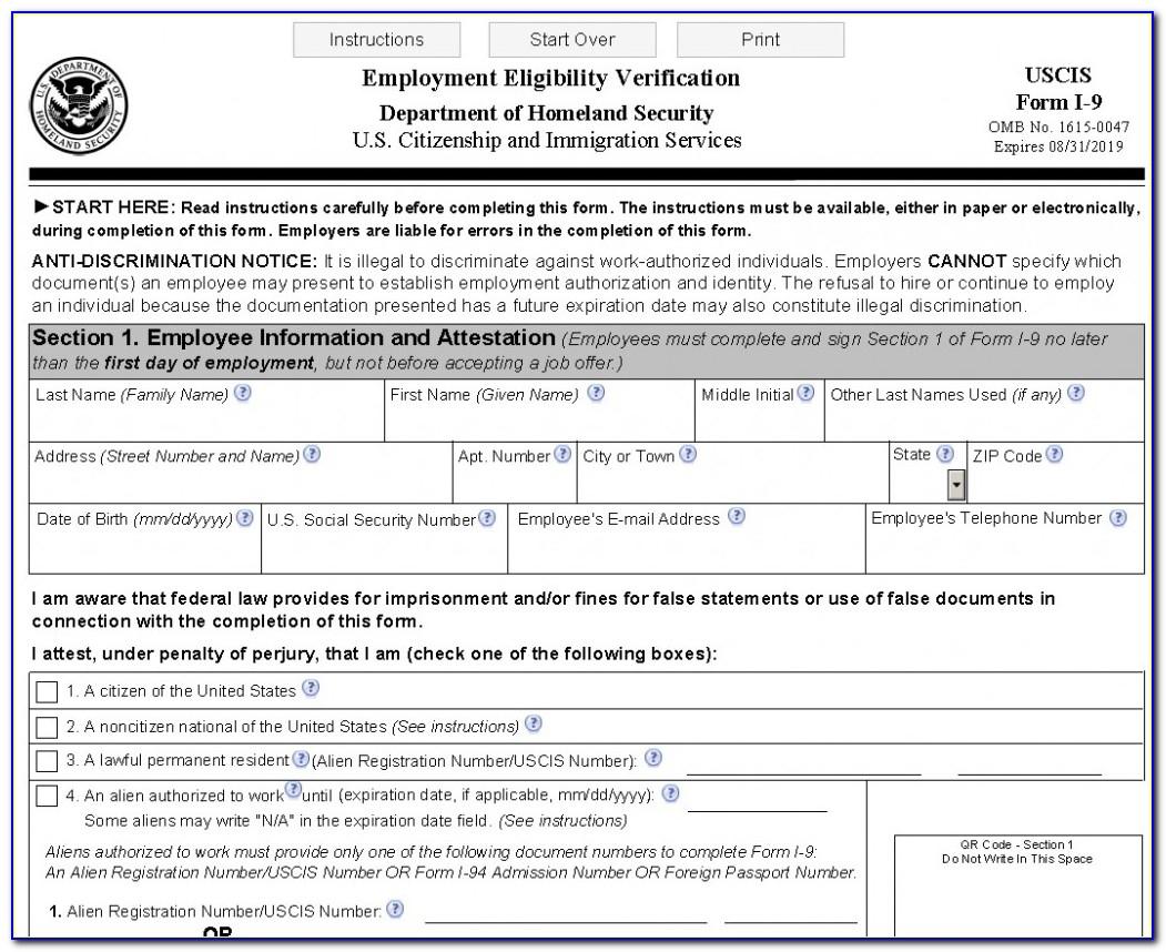 Printable I 9 Form | Vincegray2014