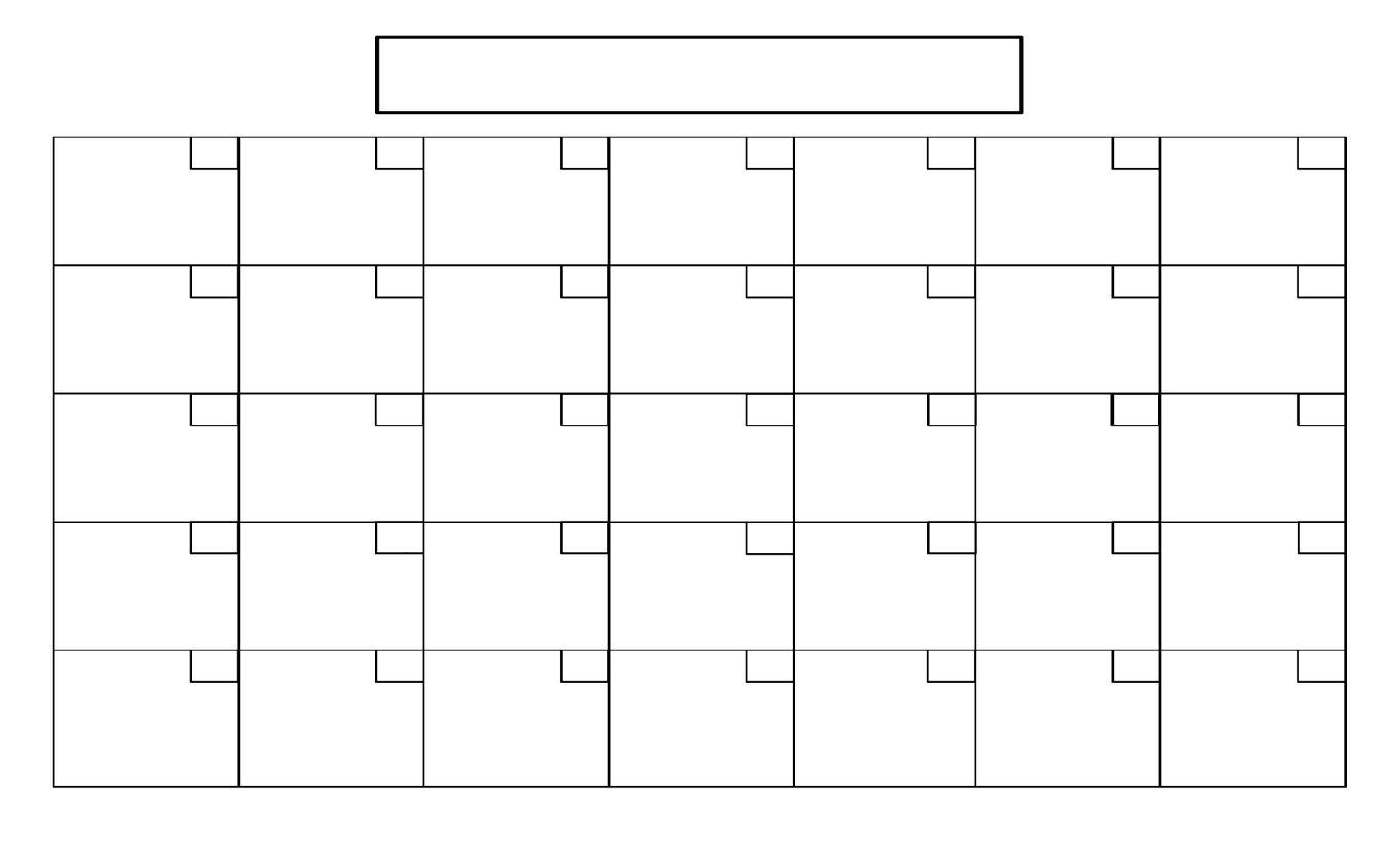 Remarkable Blank Calendar Without Dates | Blank Calendar