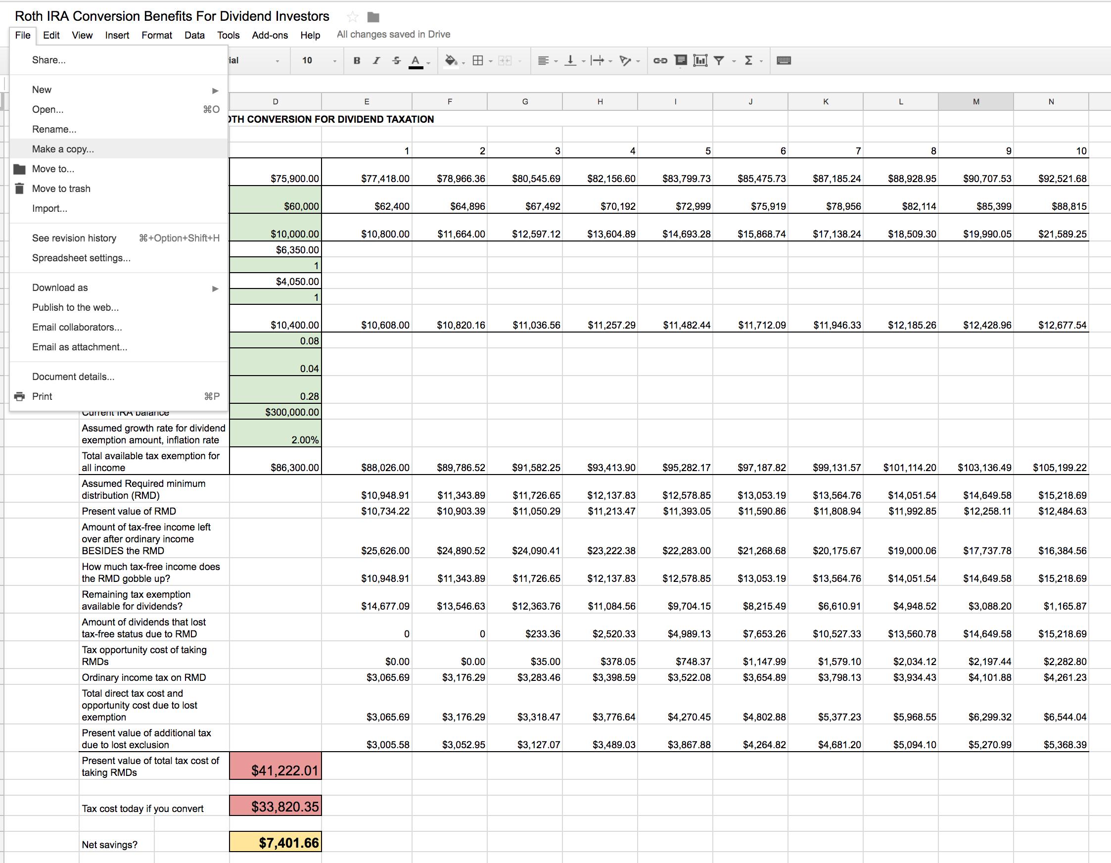 Roth Ira Conversion Spreadsheet | Seeking Alpha