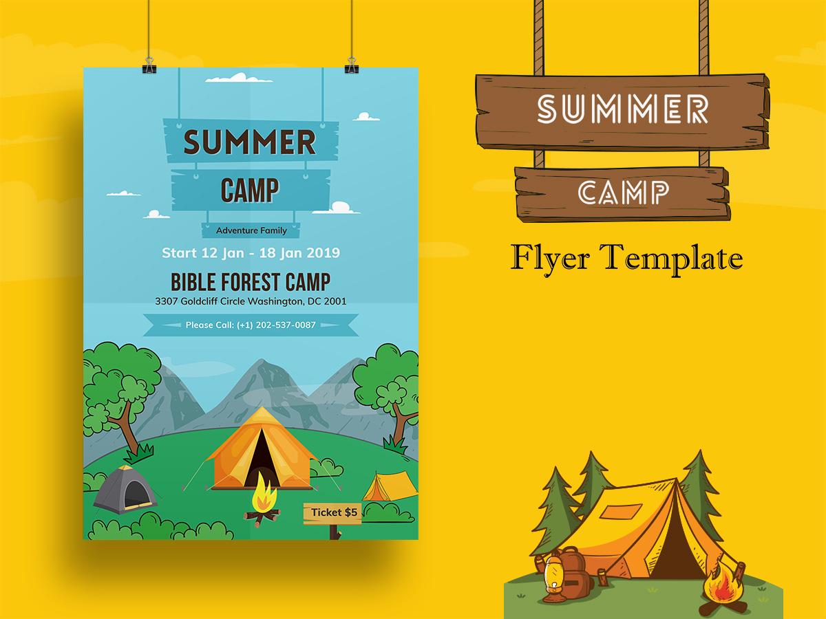 Summer Camp Flyer Template-02 | Searchmuzli