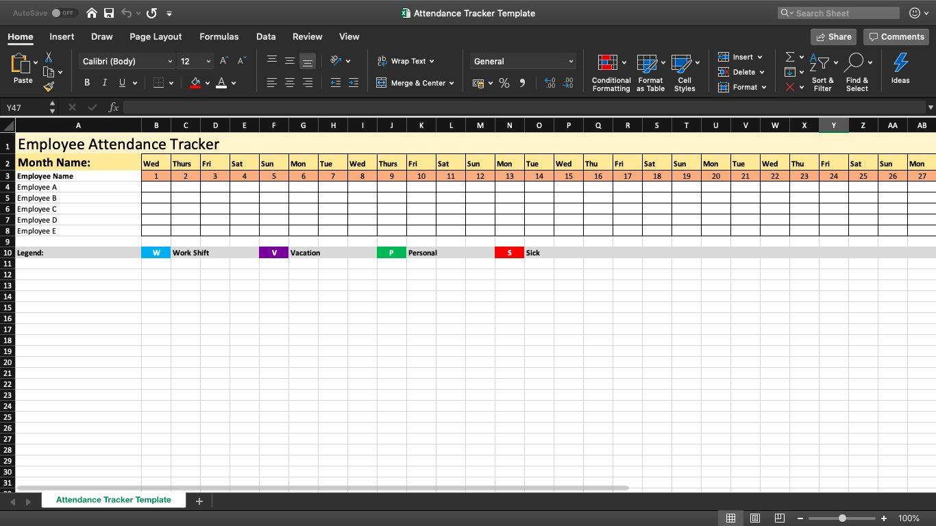 The Best Employee Attendance Tracker (Templates, Software)