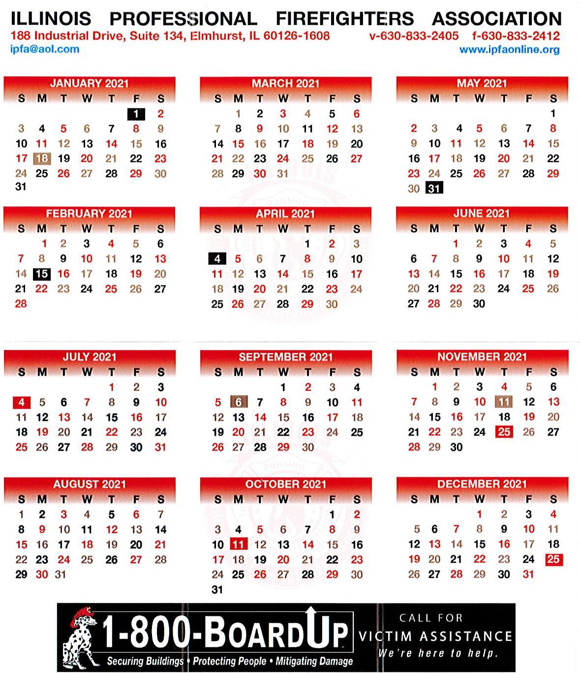 Tri Fold Calendar