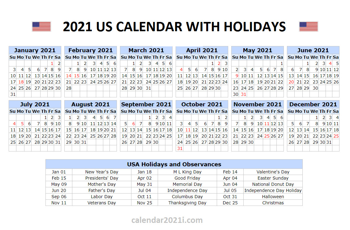Us 2021 Holidays Calendar In 2021 | Holiday Words, Holiday