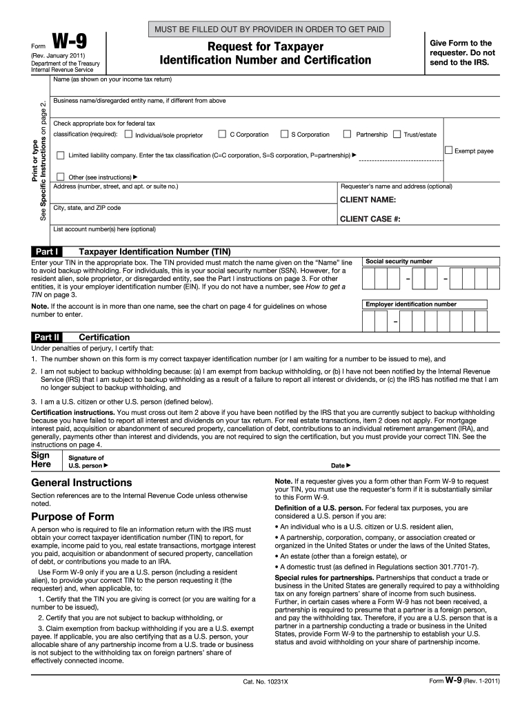 W9 Template - Fill Out And Sign Printable Pdf Template | Signnow