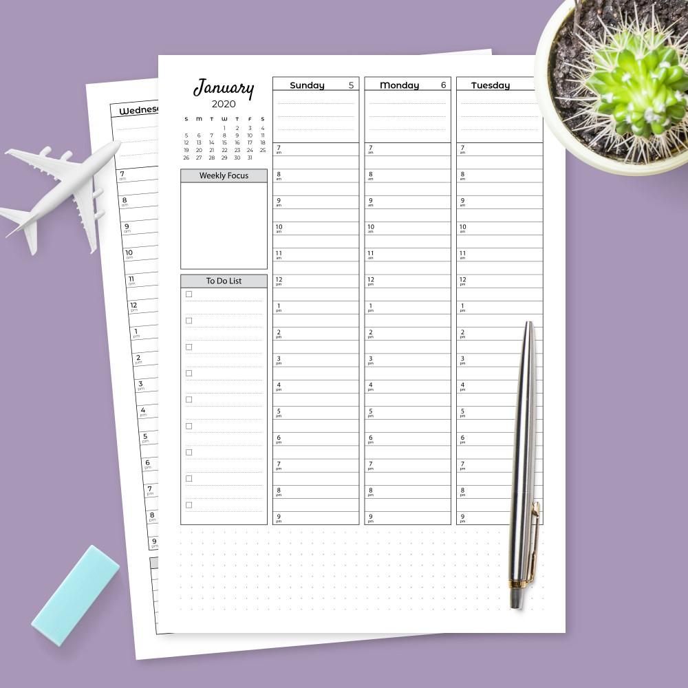 Weekly Planner Templates - Download Week Planner Pdf