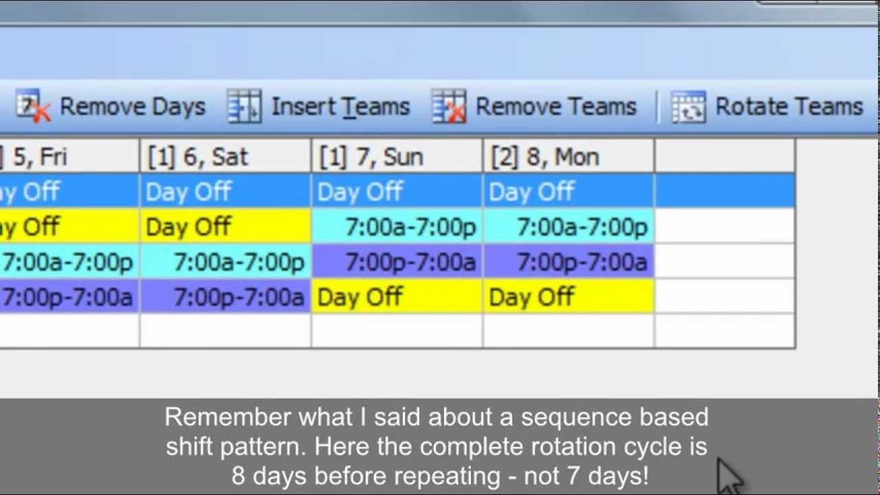 Work Schedules: Improved 4 On 4 Off 12 Hour Shift Patterns