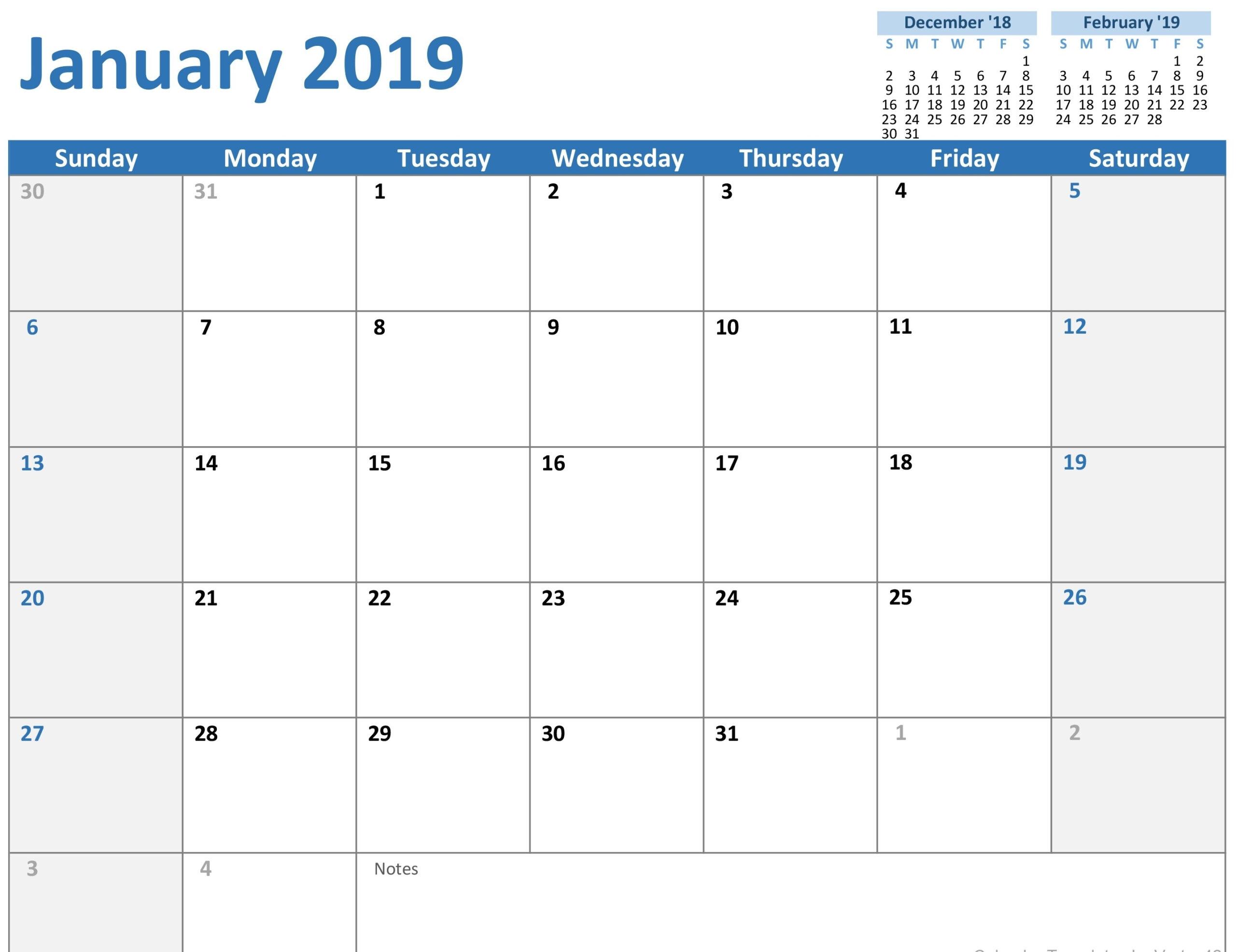 1 Month Calendar Template Word • Printable Blank Calendar