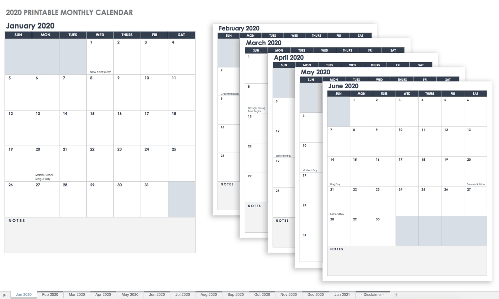 12 Month At A Glance Fill In Template Calendar   Calendar