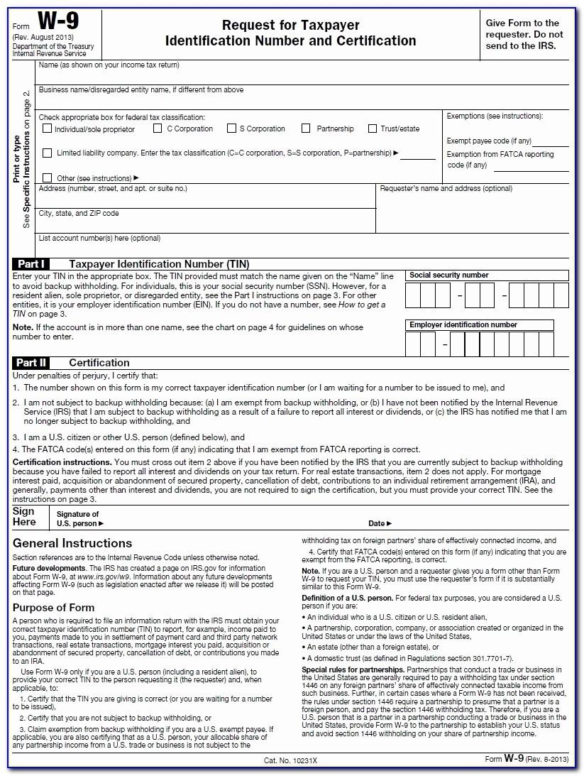 2020 W9 Printable Blank | Calendar Template Printable